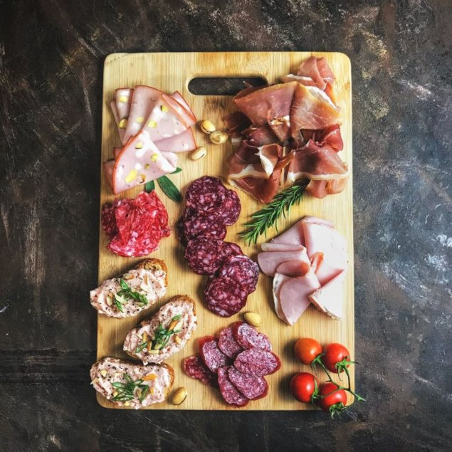Sliced meat platter